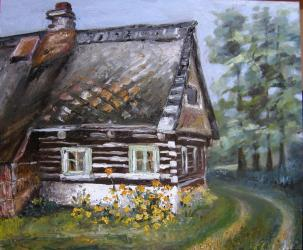 Cottage 3 - oil painting