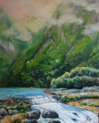 Patagonian meditation - oil painting