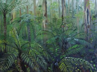 Victoria forest II - oil painting